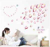 Wholesale Romantic flowers warm bedroom children s room furniture decoration fairy wall decals windows mirror home christmas art wallpaper