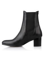Wholesale Classic Black Nubuck Women s Chelsea Boots shoes r10 u5 XIC