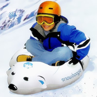 Wholesale Kids inflatable snowboard polar bear board penguin skiing snowboards children s ski skis snow sports outdoor sport inflatables gift toys
