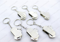 Wholesale For GB Stainless steel USB Flash Drive disk DFFrteIPT memory stick Pendrives thumbdrives