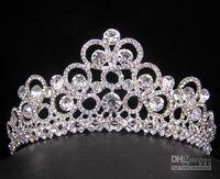Crown Rhinestone/Crystal  wedding bridal crystal veil tiara crown headband Hair Accessories