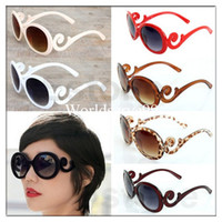 Acrylic beach arms - Hot Fashion Retro inspired Womens Lady Butterfly Clouds Arms Sunglasses Semi Tranparent Round Summer Sun Glasses Multi color