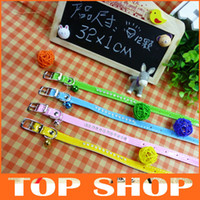 Wholesale PU Leather Dog Collar Diamante Puppy Cat Collars Buckles Dog Necklace With Rhinestone cm