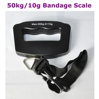 Hanging Scale <50g 3V AAA batteries(Not Include) 50kg 10g Portable LCD Digital Electronic Hanging Luggage Fishing Weighing Bandage Scale Free Shipping