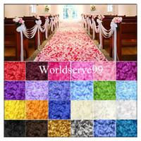 Wholesale 1000Pcs Silk Rose Petals Wedding Bridal Party Flower Scatters Decoration Favor Multicolor cm