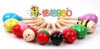 Wholesale 30pcs Baby Toys Kids Wooden Rattle Music Instrument Sand Hammer Mini Cute Maracas Cabasa Orff Instrument Maracas Infant Toys