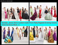 Wholesale Prom Gowns Evening Party Formal Dresses Honesty_dress Special Custom made Dress Just note Style Number and contact us