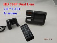 Wholesale HD P Dual Lens Car Cam IR LED G sensor Video Camera Recorder Camcorder DVR Car dvr H150