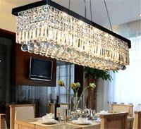 chandeliers - Length cm Modern Crystal Color LED Pendant Light Ceiling Lamp Chandelier Lighting Freeshipping