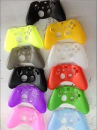 Contrôleur ps4 couvercle du boîtier à vendre-Nouveau Soft 10 couleurs Silicone Housse de protection Housse Housse pour PS4 XBOX ONE Controller