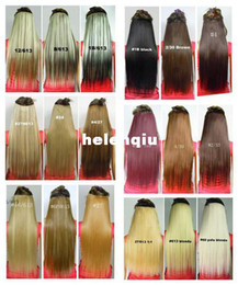 Wholesale Simulation hair thicker hair piece a style straight hair straight hair wig piece Seamless girls wig and a half head cards