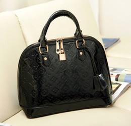 Wholesale Patent leather bag embossed shell bright skin handbags