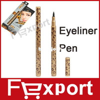 Waterproof Pencil Eyeliner High Quality Waterproof Leopard Design Liquid Eye Liner Pen Black Eyeliner Pencil,1015