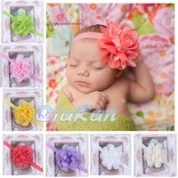 Wholesale Baby Girl Headband Flower Elastic Toddler Headband Newborn Infant Photo Prop Hairbands HYS02