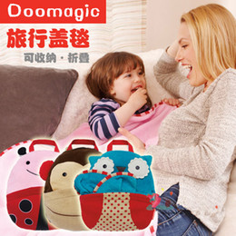 Wholesale Baby monkey blanket Children blanket travel bag velvet pillow quilt blankets are versatile DZY427H