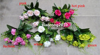 Wholesale Silk Camellia Bunch cm inches Artificial Fake Flowers Simulation Penoy Camellias Rose Five Stems per Bush Home Decoration