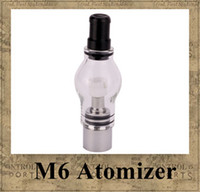 Wholesale M6 Atomizer ml Clearomizer Glass Globe Tank Anti oxidation for eGo e cig mah mah mah Electronic Cigarette eGo T
