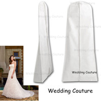 Wholesale Opaque Wedding Dress Garment Storage Bags Breathable High Quality Long Train Wide Bottom cm and cm Not See Through