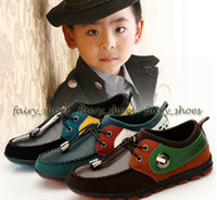 Unisex Summer Leather 2 Pairs Baby Casual Shoes Boys Dress Shoes Children Shoes Kids Foot Wear Teen-age Sneakers Black Bronw Green Sizes 31-37 GN13113006