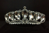 Crown Rhinestone/Crystal  Hot Sparkly Crystal Rhinestone Crown Veil Pageant Prom Princess Tiara 2014 Bride Bridal Wedding Homecoming Hair Accessories Jewellery