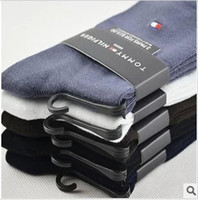 Wholesale sexy New bamboo fiber quality business men in tube socks male socks classic embroidery factory