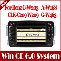 Wholesale In Dash Din Auto Radio Car DVD Player GPS Navigation for Mercedes Benz C W203 A W168 CLK C209 W209 G W463 with Bluetooth TV USB MP3 Stereo