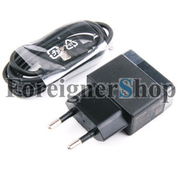 Wholesale 1 Full Amp EP880 EU Plug USB Travel Home Wall AC Power Adapter Charger Original EC801 Data Cable For Sony