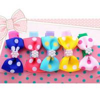 Barrettes Blending Dot Cute Dots Baby Girl Design Clips Children Kids Hair Accessories Headbands Headwear Bow Band Hairpins Fashion Flower Barrettes 2014 New