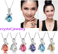Wholesale Christmas crystal Pendant Necklace Korean high grade fashion jewelry necklace drill flash jewelry for women Factory Price