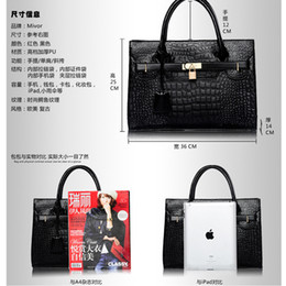 Wholesale 2013 new winter influx of women big patent leather crocodile handbags classic wild fashion casual female bag