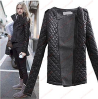 Wholesale Brand New Fashion Slim Europe and America women split joint woollen cloth Jacket coat quilted jacket