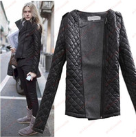 Women coats and jackets - Hot Sale New Europe and America women split joint woollen cloth Jacket coat quilted jacket