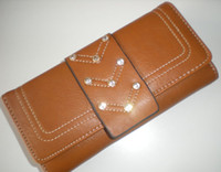 Wholesale Womens Patent Leather Long Wallet Pockets Card Clutch Purse Card Holder MIXED