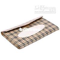 Wholesale Checked fabric car sunshading board Tissue Boxes facial tissue sun visor box for car space saving f