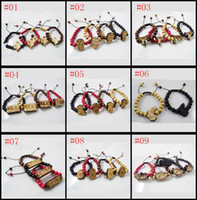 Wholesale 35 Mix Style Good Wood Beads Bracelets Hip Hop Jewelry Pendant Buddha Beaded