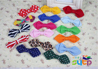 Wholesale canvas multi colors bowties kids bowties mixed colors