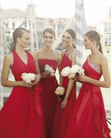 Reference Images Ruffle Sleeveless 2014 Mix Order New Sexy 8 kinds of styles Bridesmaid Dress A-line Red Chiffon Peplum Evening Dresses Floor-Length Formal Prom Dresses