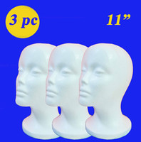 Wholesale Freeshipping quot tall high density styrofoam mannequin manikin head mounting hole wig hat cap necklace microphone