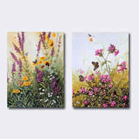 Wholesale Painting artificial oil painting decorative painting of modern flower oil painting