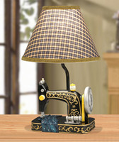 other antique sewing table - Fashion american style table lamp antique sewing machine style bedroom bedside lamp decorations
