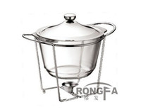 Wholesale oval shape glass buffet dish chafing pot L food warmer pyrex glass chafing dish Arcuisine Acenox