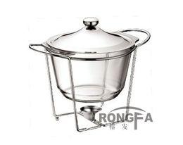 Wholesale oval shape glass buffet dish chafing pot L food warmer pyrex glass chafing dish Arcuisine Acenox