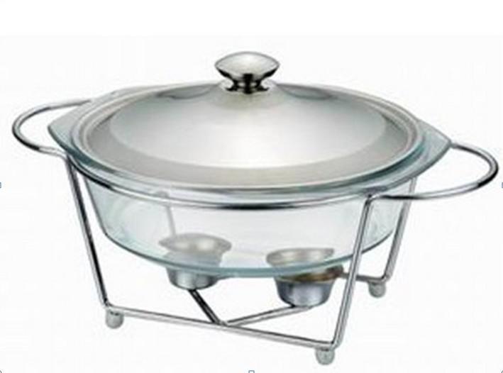 Glass Food Warmers ~ L glass buffet dish chafing pot food warmer pyrex
