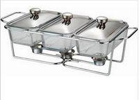 Wholesale 3pcs L glass buffet dish chafing pot food warmer pyrex glass chafing dish Arcuisine Aceno
