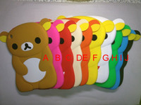 Wholesale For Apple iPad Mini Case Cute Rilakkuma Relax teddy bear Soft Rubber Silicone Gummy animal cartoon Case Cover