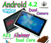 Wholesale Dual Core inch Q88 Q88pro Tablet pc Dual camera Android Allwinner A23 Ghz MB GB