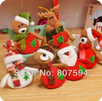 Wholesale Hot Selling The deer snowman Pendant for Chrismas tree christmas gift santa claus Christmas Decoration Supplies s16