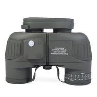 Zoom Lens Binoculars Rangefinder - Military Telescope x50 Navy Binoculars With Rangefinder and Compass Airsoft