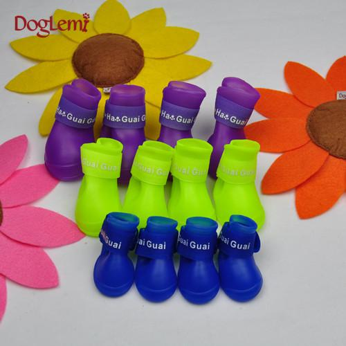 Dog Summer Rain Boots Small Dogs Pet Dog Shoes Teddy Pet Shoes ...
