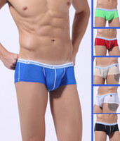 Men Boxers & Boy Shorts Seamless 6PCS Free Shipping High Quality Mens Sexy Seamless Boxers Briefs Boxer Brief Underwear Soft Low Rise Bulge Pouch Trunks Shorts Bottoms S M L